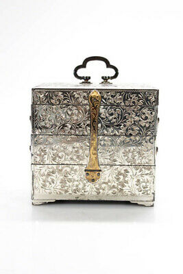 Designer Silver - Gold Plated Expandable Jewelry Box