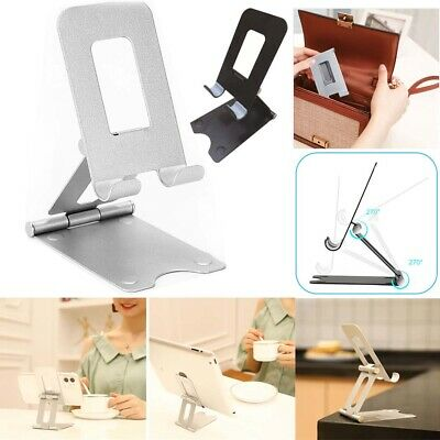 Adjustable Metal Cell Phone Stand Holder Desk Dock Mount For iPad iPhone Tablet