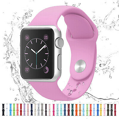 For Apple Watch iWatch Series 6 SE 5 4 3 38404244mm Silicone Sport Strap Band