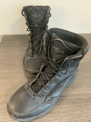 Interceptor Mens Force Tactical Steel Toe Work Boots Black Leather Size 10