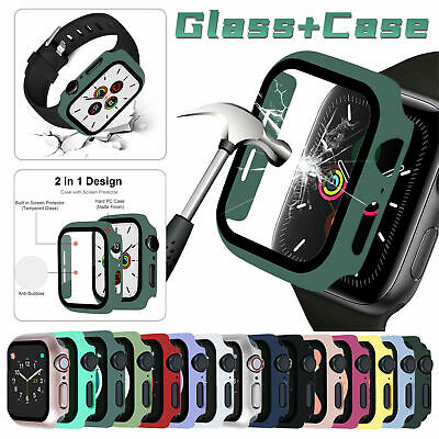 For Apple Watch Series 654SE4044mm Full Screen Protector Glass Bumper Case