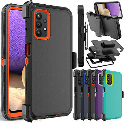 For Samsung Galaxy A32 5G Case Shockproof Heavy Duty Belt Clip Holster Cover