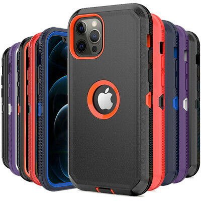 For iPhone 12 Pro Max 11 Pro Max XR XS MAX Case Rugged Shockproof Armor Cover
