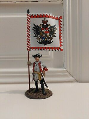ROT-11, THE SEVEN YEARS WAR, THE BATTLE OF LEUTHEN 1757, OFFICER WITH FLAG