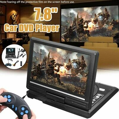 Portable DVD Player CD Card HD 169 LCD Large Swivel Screen Rechargeable N7J4