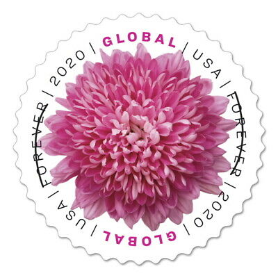 20 2 Sheets of 10 GENUINE Chrysanthemum USPS GLOBAL Forever Stamps