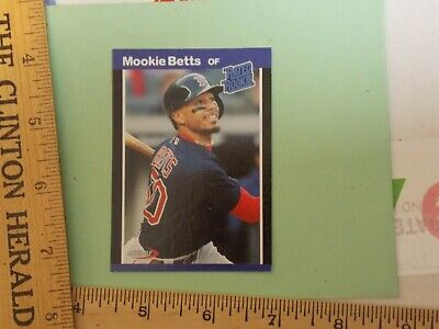 Mookie Betts 1989 Donruss style custom rookie card ACEO RP Boston Red Sox Mint