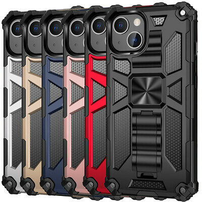 For iPhone 12 11 Pro Max Xs Xr X 8 7 Plus Shockproof Hybrid Kickstand Case Cover
