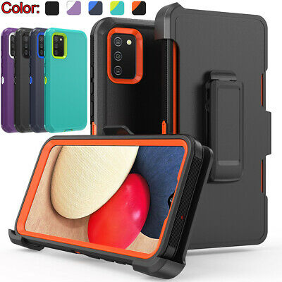 For Samsung Galaxy A02S Case Shockproof Heavy Duty Cover-Stand Belt Clip Holster