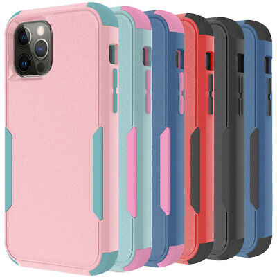 For iPhone 12 11 Pro Max Xr Xs 6 6s 8 7 Plus SE Shockproof Case-Tempered Glass