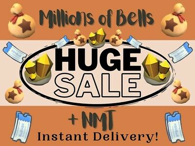 Bells Nook Miles Tickets Fish Bait Materials Gold Tool DIY⭐ Quick Delivery ⭐