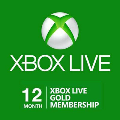 Microsoft Xbox Live 12 Month Gold Membership For Xbox One and Xbox 360
