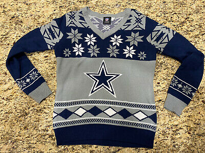 Dallas Cowboys Ugly Sweater Christmas NFL Football Holiday Mens Size Large