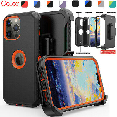 For iPhone 13 Pro Max 12 11 XR Case Shockproof Rugged Cover-Belt Clip Holster