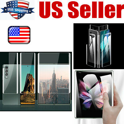 Hydrogel Film Screen Protector for Samsung Galaxy Z Fold 3 Mobile Phone USA