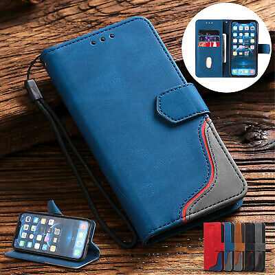 Flip Wallet Splicing Magnetic Leather Case For iPhone 13 12 Pro Max 11 XS XR 876