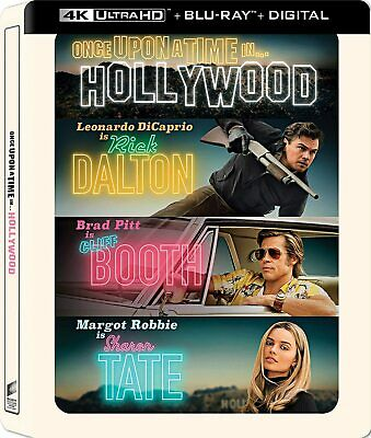 New Steelbook Once Upon A Time In Hollywood 4K  Blu-ray - Digital