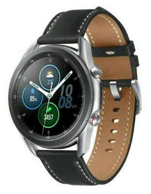 Samsung Galaxy Watch3 SM-R845 45mm GPS - LTE Unlocked Stainless Silver Very Good