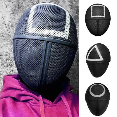 Cosplay Mask Square Circle Triangle Halloween Party Mask Full Face US Xmas Gift
