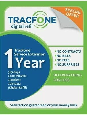 TracFone Service Extensión 1year365days2000minutes2000text2000Data Digital