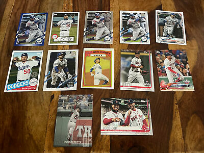 Mookie Betts Insert And Parallel Lot