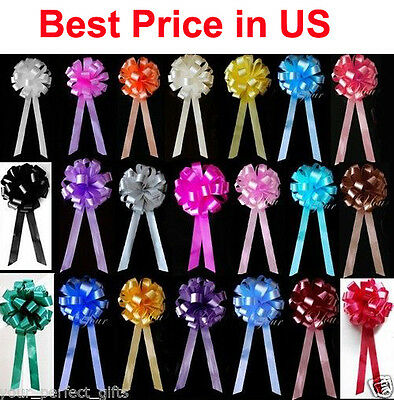 10 pcs 8 WEDDING PULL PEW BOWS BRIDAL SHOWER DECORATION CHAIR TABLE CENTERPIECE