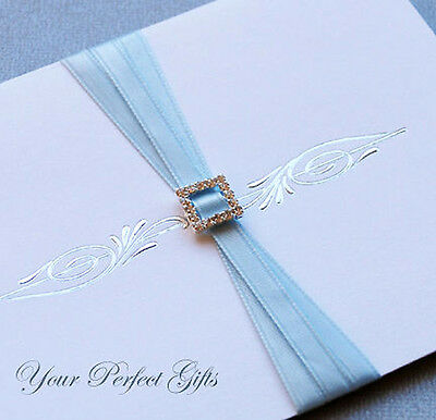 24 SQUARE Wedding Invitation Rhinestone Crystal Buckle