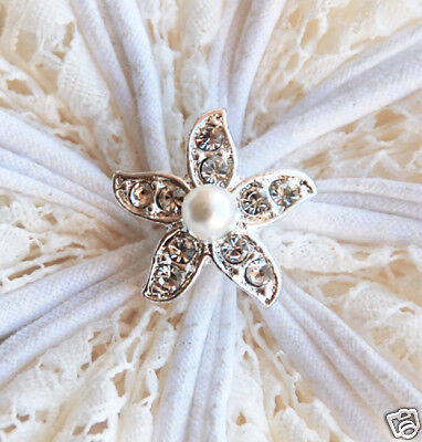 10 Starfish Diamante Rhinestone Crystal Pearl Button