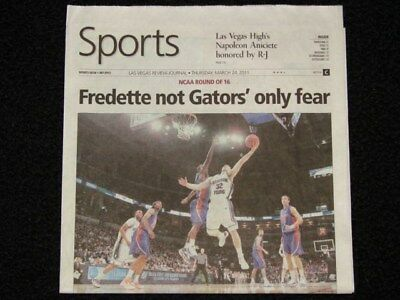 LVRJ Sports Page Jimmer Fredette BYU Cougars NCAA Tourney Sweet 16 Issue