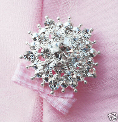 10 Round Circle 1-25 Rhinestone Crystal Button Buckle
