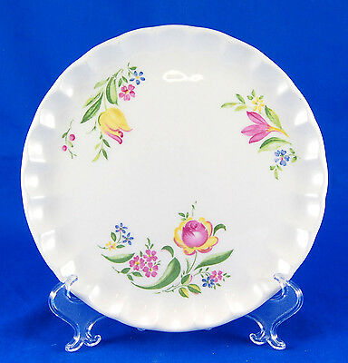 W- S- George Bolero GEO64 Bread and Butter Plate 6-5 in- Scalloped Yellow Pink