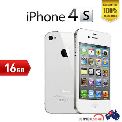 Apple iPhone 4S 16GB EXECELLENT Condition unlocked White Smartphone 100 tested