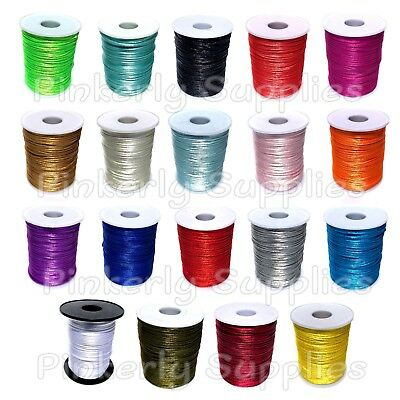 10 or 100 yards Satin Rattail Cord 2mm shamballa nylon macrame kumihimo string