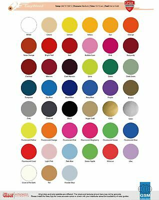 Heat Transfer Vinyl Siser Easyweed 15 x 1 Foot - 41 Color Choices- REG COLORS