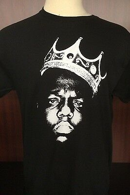 NOTORIOUS B-I-G BIGGIE CROWN IN THE SHADOW BLACK Adult SIzes S-5XL - KIDS S-XL