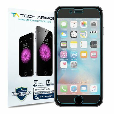Tech Armor Anti-Glare Matte Screen Protector 3-Pack for Apple iPhone 66S