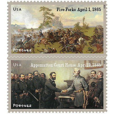USPS New The Civil War 1865 Forever Stamp Sheet of 12