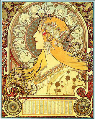 The Astrologer 15x22 Hand Numbered Ltd- Edition Alphonse Mucha
