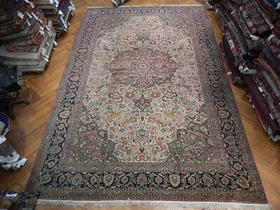 ANTIQUE Hunting Scene NATURE 11x17 ORIGINAL Persian Rug WILDLIFE