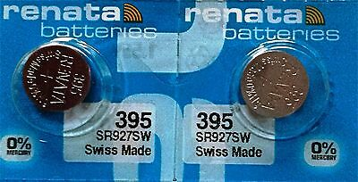 395 RENATA WATCH BATTERIES SR927SW 2 piece New packaging Authorized Seller