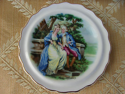 Vintage Royal Grafton Fine Bone China England Colonial Couple Dish Plate 4 dia