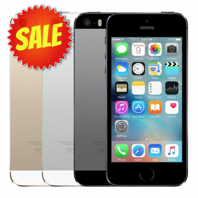 Apple iPhone 5S Unlocked AT-T T-Mobile Verizon Gray Silver Gold 5 S 10 OFF