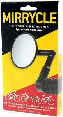 Mirrycle Bar End Rear View Mirror 3 Convex Lens fits Mountain  Commuter Bikes