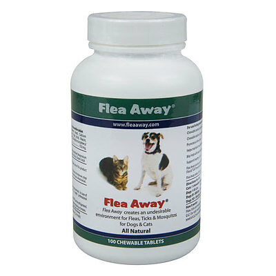 Flea Away The natural flea tick and mosquito repellent 100 Tablets