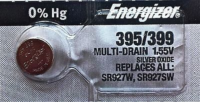 ENERGIZER 395399 WATCH BATTERIES SR927SW Sealed Authorized Seller