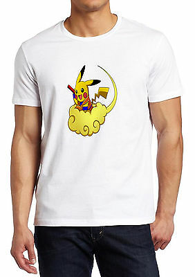 Pokemon Pikachu Dragon Ball Fusion Funny Parody shirt Custom T-shirt