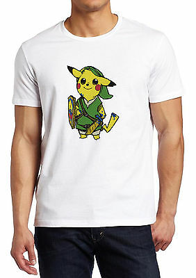 Pokemon Pikachu and Zelda Fusion Parody shirt Custom T-shirt