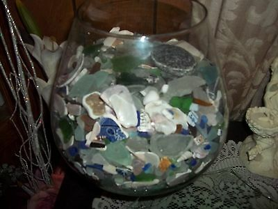 beach glass lake Erie Ohio 60 pieces for jewelry crafts shellspottery