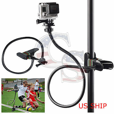 Long Adjustable Neck- Jaws Flex Clamp Mount for Gopro Hero 2 3 3- 4 Accessories