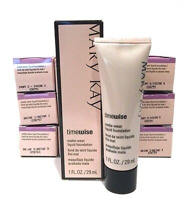 MARY KAY TIMEWISE MATTE WEAR LIQUID FOUNDATIONYOU CHOOSEIVORYBEIGEBRONZE